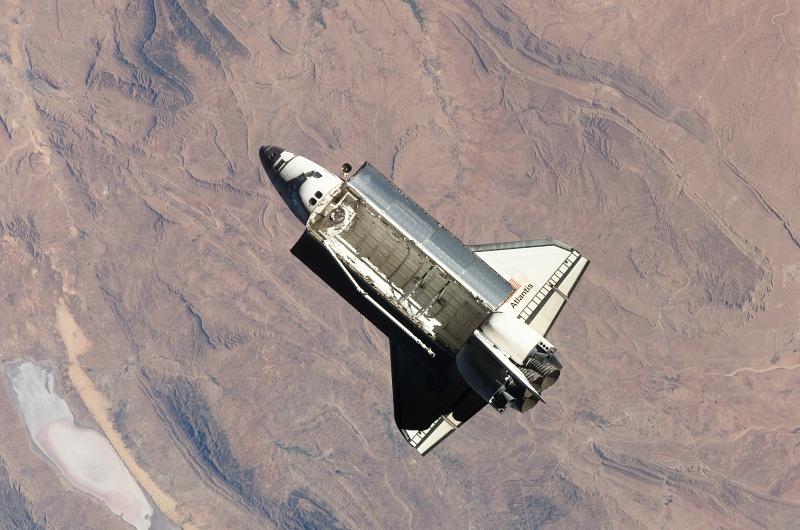 8. Flying High Above Planet Earth's Rugged Terrain -- Specifically North Africa -- Space Shuttle Atlantis (STS-129) Performs A Flyaround of the International Space Station After Undocking On November 25, 2009, As Seen From the International Space Station (Expedition Twenty-One). Photo Credit: NASA; STS-129 Shuttle Mission Imagery (http://spaceflight.nasa.gov/gallery/images/shuttle/sts-129/ndxpage1.html), ISS021-E-032919 (http://spaceflight.nasa.gov/gallery/images/shuttle/sts-129/html/iss021e032919.html), NASA Human Space Flight (http://spaceflight.nasa.gov), National Aeronautics and Space Administration (NASA, http://www.nasa.gov), Government of the United States of America.