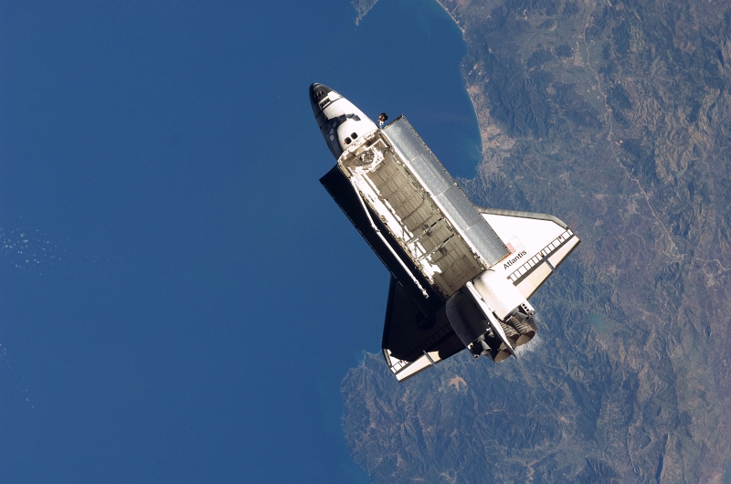12. Space Shuttle Atlantis (STS-129) High Above the Mediterranean Sea, Near the Coast of Algeria, November 25, 2009, As Seen From the International Space Station (Expedition Twenty-One). Photo Credit: NASA; STS-129 Shuttle Mission Imagery (http://spaceflight.nasa.gov/gallery/images/shuttle/sts-129/ndxpage1.html), ISS021-E-032920 (http://spaceflight.nasa.gov/gallery/images/shuttle/sts-129/html/iss021e032920.html), NASA Human Space Flight (http://spaceflight.nasa.gov), National Aeronautics and Space Administration (NASA, http://www.nasa.gov), Government of the United States of America.