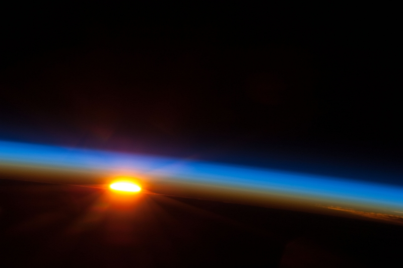2. The Rising of the Sun Over the South Pacific Ocean, May 5, 2013 at 12:09:58 GMT, As Seen From the International Space Station (Expedition 36). Photo Credit: NASA; ISS035-E-34848, Earth's atmospheric limb, International Space Station (Expedition 35); Image Science and Analysis Laboratory, NASA-Johnson Space Center. 'The Gateway to Astronaut Photography of Earth.' <http://eol.jsc.nasa.gov/scripts/sseop/photo.pl?mission=ISS035&roll=E&frame=34848>; National Aeronautics and Space Administration (NASA, http://www.nasa.gov), Government of the United States of America (USA).