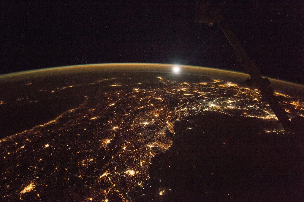 Photoset 1, Photograph 12. November 12, 2017 at 21:37:36 GMT, ISS053-E-218030, As Seen From the International Space Station (Expedition 53), Latitude: 35.0, Longitude: 33.8, Altitude: 215 Nautical Miles, Sun Azimuth: 7 degrees, Sun Elevation Angle: -74 degrees. Photo Credit: NASA; ISS053-E-218030, International Space Station (Expedition 53); Image courtesy of the Earth Science and Remote Sensing Unit, NASA Johnson Space Center, https://eol.jsc.nasa.gov. National Aeronautics and Space Administration (NASA, http://www.nasa.gov), Government of the United States of America (USA).